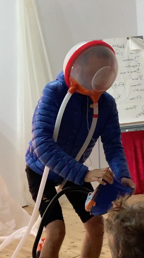 Le gonflonaute, un dispositif covid-compatible pour artistes de scène